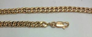 Pulsera Groumet Oro18k 10,4grs X 22cm Hombre Mujer Garantia