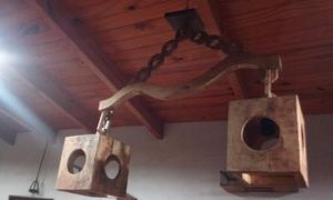 lampara de techo rustica