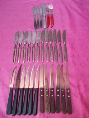 lotes de cuchillos de acero nuevos y usados