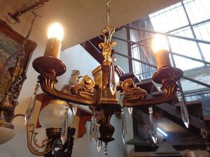 Antigua araña estilo inglés bronce macizo. Antigua Saudade