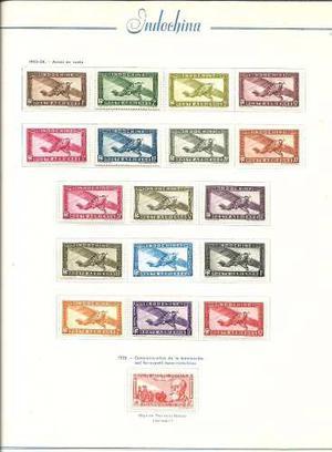 Coleccion De Estampillas Aereas Mint De Indochina Completa