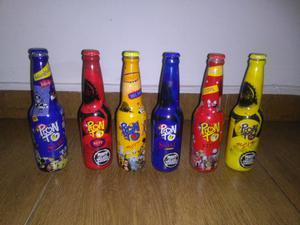 Coleccion de botellas de Pronto