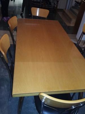 Juego de comedor SIMET - seis sillas