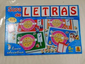 Lote De Dos Juegos De Mesa Sopa De Letras Posot Class