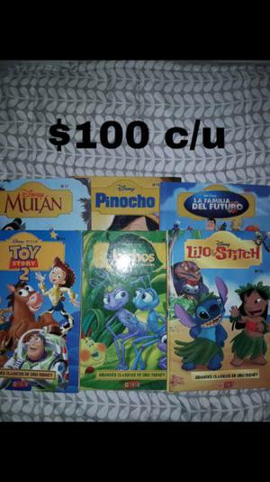 Libros de la colección de oro Disney