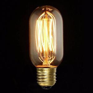 Lámpara decorativa filamento Americano Antique recta T45