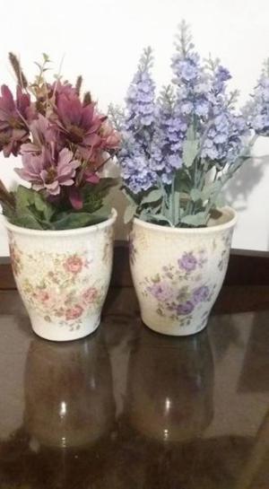 Macetas de ceramica usadas