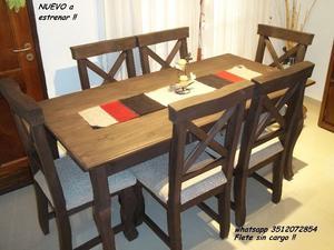 NUEVO A ESTRENAR !! Mesa y 6 sillas flete sin cargo !!