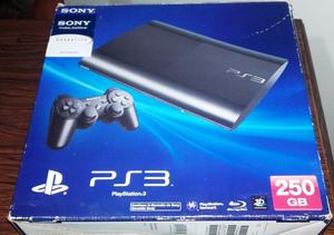 Ps3 Slim 250 Gb + Dos Joysticks + Juegos