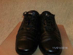 Zapatos Boating de Hombre Nro 42 Cuero Negro Poco Uso