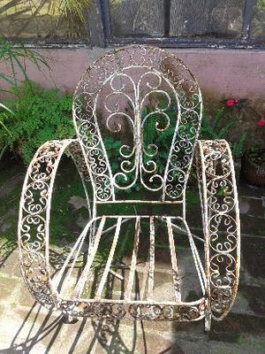 sillones hierro estilo vintage-retro a pintar