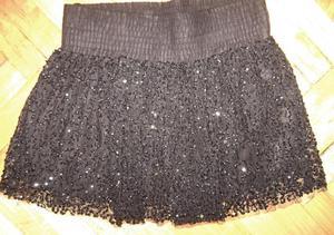 zara - minifalda lentejuelas importada de india