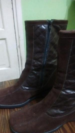Botas de gamuza marrones numero 38
