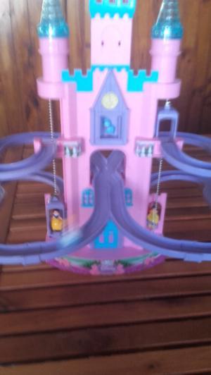 Castillo princesas de disney con luz y sonido