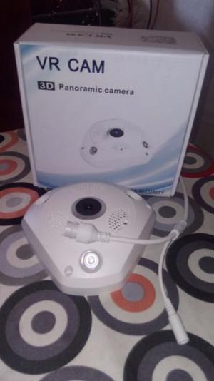 Cámara IP Wifi 360° ojo de pez con micrófono y parlante