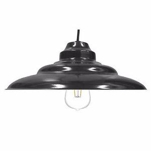 Colgante Chapa Negro C/lampara Led Philips