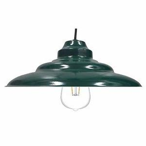 Colgante Chapa Verde Ingles C/lampara Led Philips