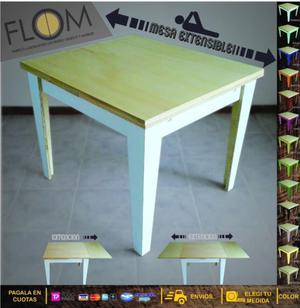 Mesa,mesa extensible, mesa de madera