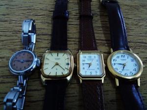 Relojes pulsera antiguos lote de 4 gran oferta !!!