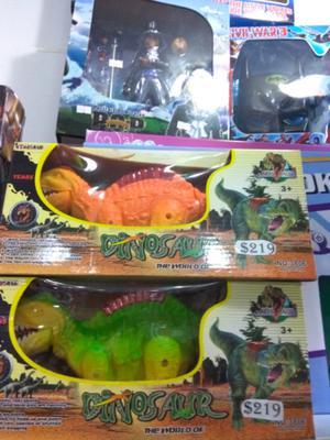 Super oferta Dinosaurios a Pila con luz, sonido y movimiento