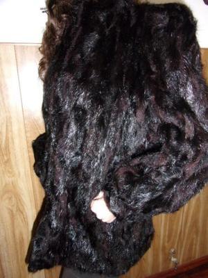 Tapado mujer color negro.Talle L. Oferta