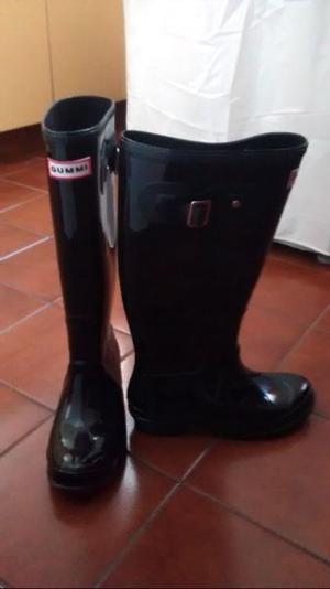 Vendo botas de lluvia con hebilla sin uso Gummi