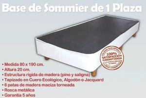 base sommier box somier cama 1 plaza