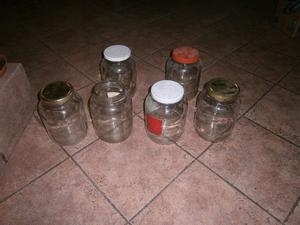 frascos de vidrio de 3 litros con tapa a rosca