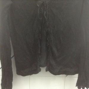 saco de hilo de seda negro tipo torerita un poco mas largo