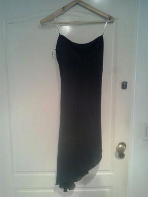 vestido negro de gaza talle 2