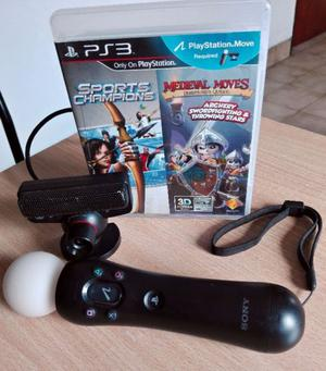 KIT MOVE con dos juegos PS3