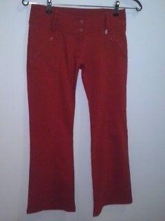 Pantalón de vestir rojo, talle 2