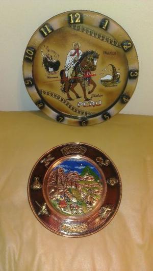 Reloj de Pared y Plato para colgar de Perú!!!!