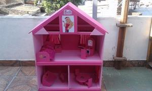 casitas de muñecas en fibrofacil con todos sus muebles