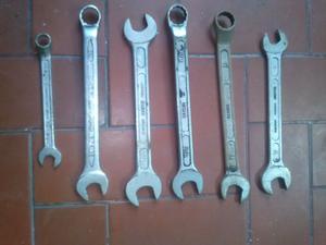 llaves bahco combinadas fijas y estriadas, usadas en buen