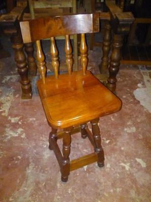 silla banqueta taburete giratoria de algarrobo con respaldo