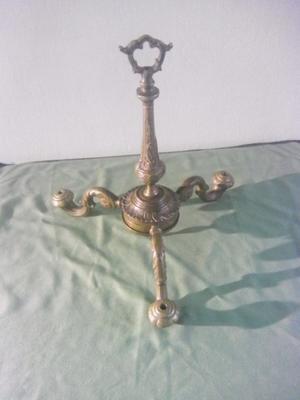 Antigua araña de bronce 3 luces