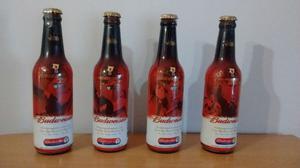 Colección Botellas Cerveza Budweiser Mundiales Futbol x