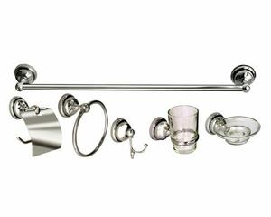 Set Kit Combo Accesorios Baño 6 Piezas Abs Y Metal Oferta