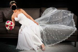 Vestido de novia + cola