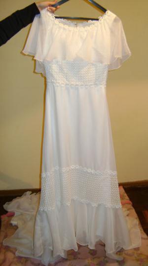Vestido de novia con cola + pollerin