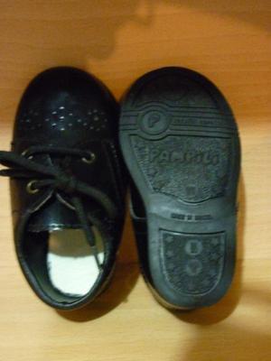 Zapato de fiesta para bebé c/cordón Negro talle 22 eur