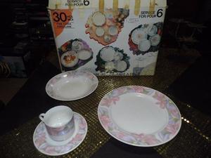 juego de porcelana de 30 piezas nuevo en caja