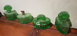 4 Perfumeros verdes