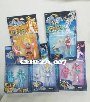 5 Muñecos D L Caballeros D Zodiaco Shiryu HyogaSeiya Shun