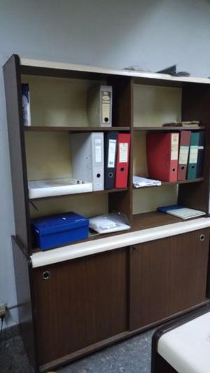 Biblioteca Organizador Con Puertas Corredizas y Estantes