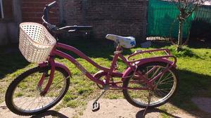 Bicicleta de nena rodado 20 usada
