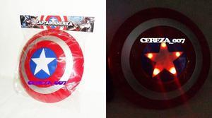Escudo Del Capitan America Con 5 Luces Led Y Sonido