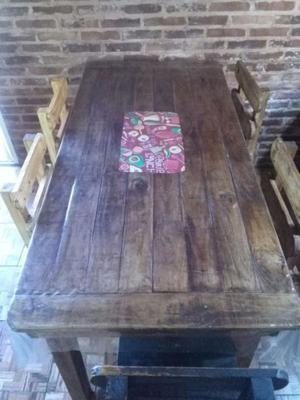 Fabricacion de muebles rusticos