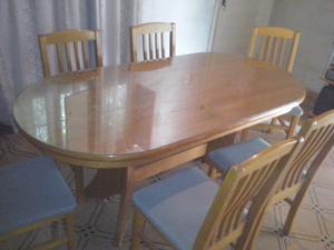 Juego de mesa y sillas Roble. Liquido !!